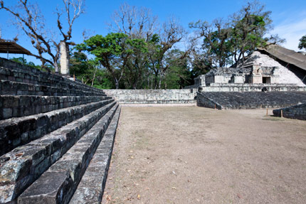 Ball court at Copan, Honduras
